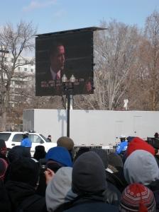 Barak Obama gives his Inaugural Address