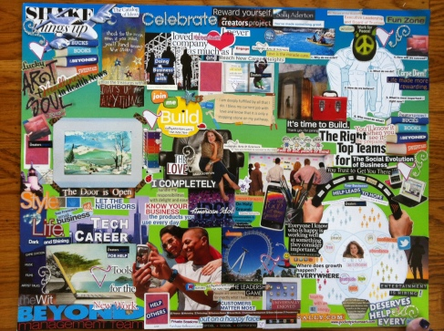 Intuitive Arts & Sciences Vision Board August 14, 2012
