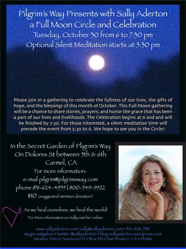 Flyer for Full Moon Circle October 2012