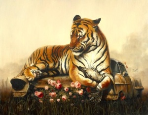 Pieta II by Martin Wittfooth